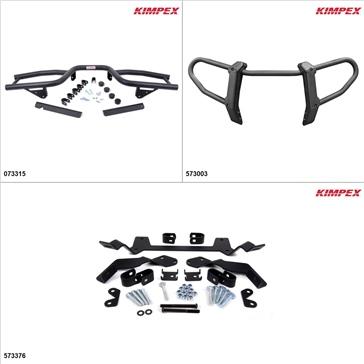 Kimpex Gen 2 Bumper Kit - Black, Kawasaki Brute Force 650 2005-09, 11-13