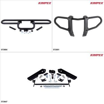 Kimpex Gen 2 Bumper Kit - Black, Suzuki King Quad 450 2007-10