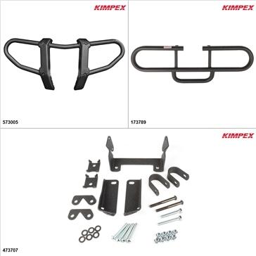 Kimpex Gen 2 Bumper Kit - Black, Yamaha Kodiak 450 2018