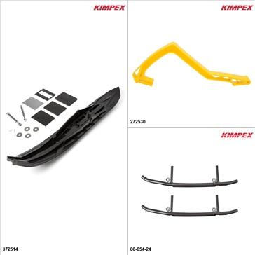 Kimpex - Arrow Ski Kit - Black, Arctic Cat Bearcat 570 2009-14