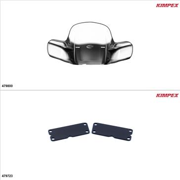 Kimpex - Kit de pare-brise GEN 2 - Pare-brise, Yamaha Big Bear 250 2007