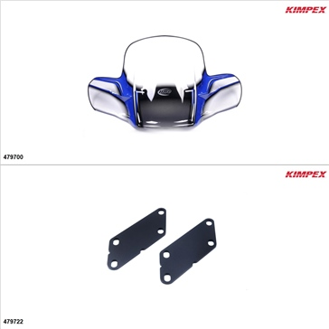 Kimpex - GEN 2 Windshield Kit - Windshield, Yamaha Grizzly 700 2007-15