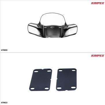 Kimpex - GEN 2 Windshield Kit - Windshield, Suzuki King Quad 400 2009-10, 13-19