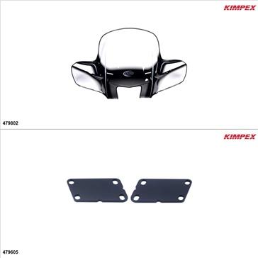 Kimpex - GEN 2 Windshield Kit - Windshield, Suzuki King Quad 700 2005-07
