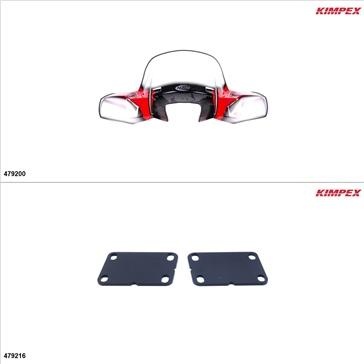 Kimpex - GEN 2 Windshield Kit - Windshield, Honda Foreman 500 2005-09, 11-19