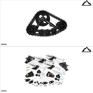 Commander WSS4 Kit de chenille UTV - 4 Saisons, Polaris RZR 900 2017-18