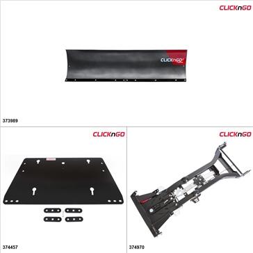"ClickNGo GEN 1 UTV Plow Kit - 72"", Polaris Ranger Crew 900 2014"