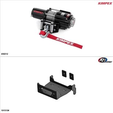 Kimpex 4500 lb Kit de treuil - Acier, Yamaha Viking 700 2014-19