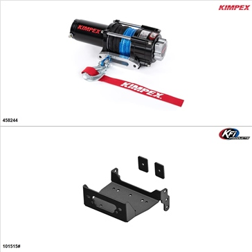 Kimpex 3500 lb Kit de treuil - Synthétique, Yamaha Viking 700 2014-19