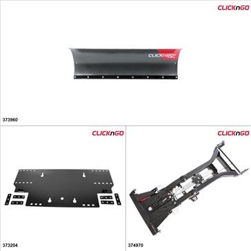 """ClickNGo GEN 2 UTV Plow Kit - 50"""", Honda Pioneer 500 2015-17"""