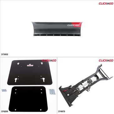 "ClickNGo GEN 2 Kit de pelle UTV - 54"", Honda Big Red 700 2009-13"