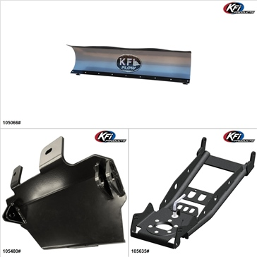 KFIProducts - UTV Plow Kit - 66'', CF-Moto Z6 2012
