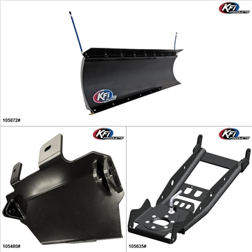 "KFIProducts - UTV Plow Kit - 72"", CF-Moto ZFORCE 600 2014-15"