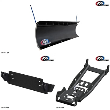 "KFIProducts - UTV Plow Kit - 72"", John Deere Gator XUV 550 2012-16"
