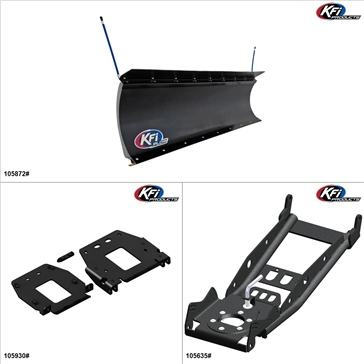 "KFIProducts - UTV Plow Kit - 72"", Polaris General 1000 2016-18"