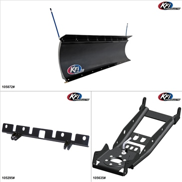 "KFIProducts - UTV Plow Kit - 72"", Kubota RTV1100 2007-13"