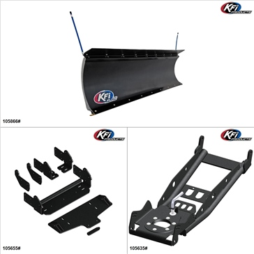 "KFIProducts - Kit de pelle UTV - 66"", Textron Off Road Wildcat Sport 700 2018"