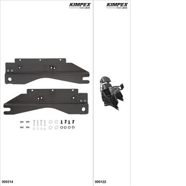 KimpexSeatJack - Passenger Seat Kit - Black, Yamaha FX Nytro 2008-14