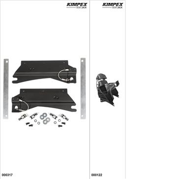 KimpexSeatJack - Passenger Seat Kit - Black, Polaris Switchback 850 2019