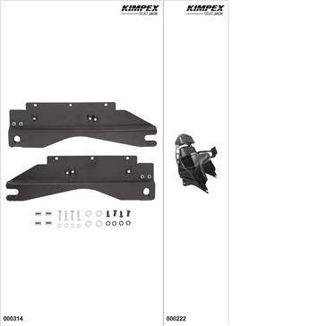 KimpexSeatJack - Kit siège passager - Noir, Yamaha FX Nytro 2008-14