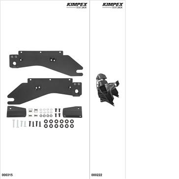 KimpexSeatJack - Passenger Seat Kit - Black, Yamaha Apex 2011-18