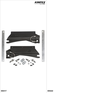 KimpexSeatJack - Kit siège passager - Noir, Polaris SwitchBack 600 2015-19