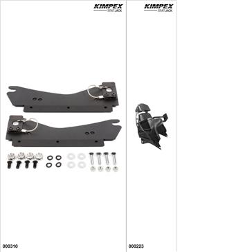 KimpexSeatJack - Passenger Seat Kit - Black, Ski-Doo Freeride 800R 2012-17
