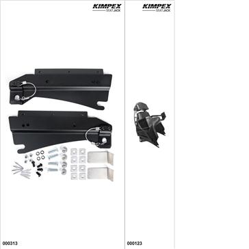 KimpexSeatJack - Passenger Seat Kit - Black, Arctic Cat M6000 2014-19